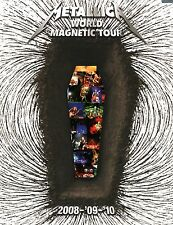 METALLICA 2008 / 2009 / 2010 WORLD MAGNETIC TOUR CONCERT PROGRAM BOOK / NM 2 MNT