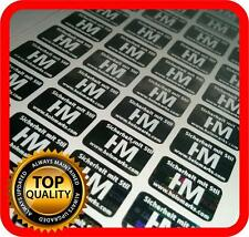 Ihr Logo und Text auf 1500 Hologramm Etiketten Garantie Siegel Aufkleber 14x9mm
