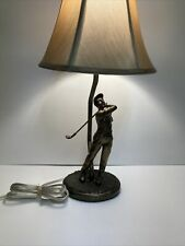 Bombay Company Brass Tone Golfing Golf Table Lamp Dated 2006