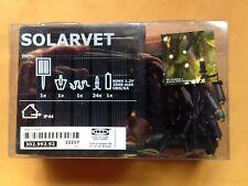 IKEA 302.992.92 SOLARVET LED LIGHT CHAIN, 24 LIGHTS, OUTDOOR SOLAR POWERED, NEW