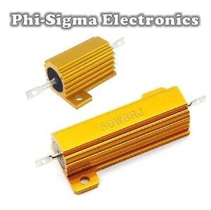 Aluminium Clad Power Resistors 10W, 25W, 50W - Full Range of Values