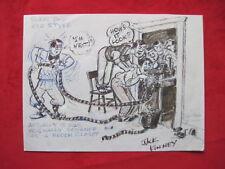Jack Kinney Walt Disney SIGNED DISNEY STUDIO DRAWING