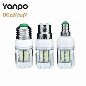 5W E27 E12 E26 E14 LED Corn Light Bulbs 5730 SMD DC 12V 24V Warm Cold White Lamp