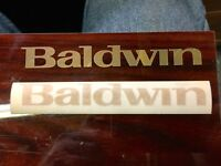 """Bright Gold Baldwin Piano Cabinet Fallboard Decal Letters 5-5/8""""x11/16"""""""
