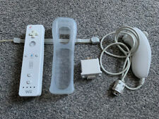 Official Nintendo Wii Remote, Rubber Sleeve, Motion Plus, Lanyard, Nunchuck
