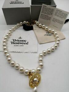 vivienne westwood Gold Pearl Pendant Necklace