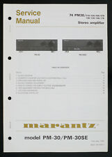 MARANTZ Model PM-30 PM-30SE Original Stereo Amplifier Service-Manual o128