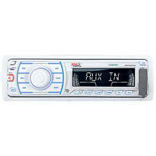 Boss Marine In-Dash Single Din Digital Media MP3/AM/FM Stereo Radio Receiver