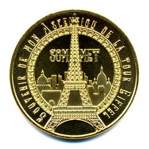 75007 Tour Eiffel 10, Souvenir de mon ascension, Sommet, 2021, Monnaie de Paris