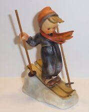 Vintage Goebel Hummel Skier Boy TMK 3 Figure Only Crazing On Base