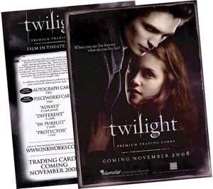Twilight (Saga) Movie - Promotional Sell Sheet - Inkworks 2008