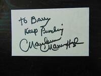 """Middleweight Champion"" Marvin Hagler Hand Signed 3X5 Card Todd Mueller COA"