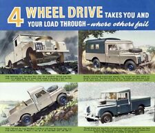 LAND ROVER 1954 SERIES-I '107' RETRO POSTER PRINT CLASSIC ADVERT A3 !!!!