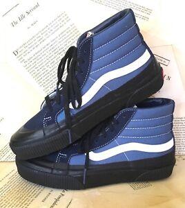 Vans Sneakers SK8-HI Rubber Dip Classic 138 Canvas Black Blue M 8 W 9.5 NWT