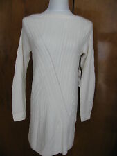 Nordstrom Collection  Womens Ivory Cashmere Detailed Mini Dress XSmall NWT