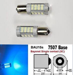 7507 BAU15S PY21W 92 LED Projector Ice Blue Rear Signal Light B1 JP USA Euro