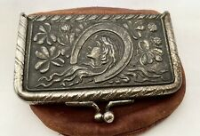 Old Coin Leather Purse Complement Of�Farmers State Bank�