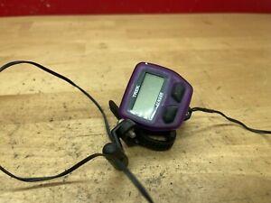 Vintage purple Trek Sensor bicycle computer