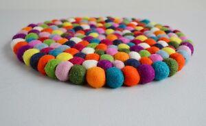 Pom Felt Balls Wool Handmade Choose Beads Craft Quantity Coaster Mix 30 cms