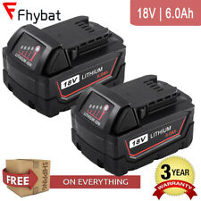 2X18v 6.0Ah Replace For Milwaukee M18 Lithium XC Battery 48-11-1850 48-11-1828