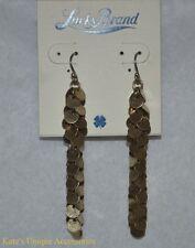 NWT Lucky Brand Gold Tone Linear Drop Earrings JLRU8413 XMAS Vday Gift Idea RARE