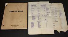 PARATROOP COMMAND (1958) SIGNED SI SIMONSON PROD SCRIPT+ART+NOTES+CALL SHTS+COA!
