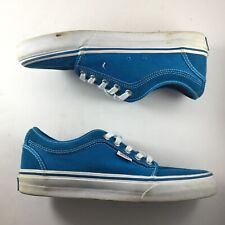 Vans Classic Authentic Men 7 Aqua Leather Vans Off The Wall Skate Shoe Casual