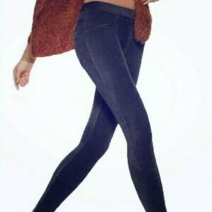 Hue Soft Corduroy Leggings Size XL Navy Blue