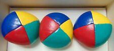 True Canadian Balls - Fine Juggling Balls 3 - (Yellow, Red, Blue, Green) - New