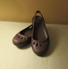 Crocs Kadee Women's Brown Slingback Slip On Ballet Flats Size 5