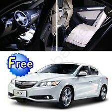 8pcs Super White LED Bulb lights 2013-2016 Interior package kit for Acura ILX