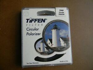 Tiffen 77CP 77mm Thin Circular Polarizer In Box Made In The USA NEW SEALED