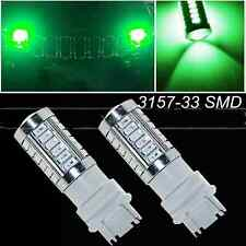2x Green 3157 T25 5730Chip 33SMD Daytime Running Lights LED Bulbs DRL Lamp