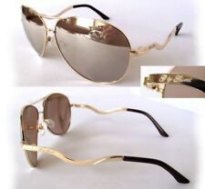 New GUESS GG1107 Gold/Mirror Womens Sunglasses + Guess Pouch $75.00