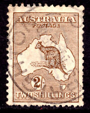 AUSTRALIA #52 2sh BROWN, 1916 Wmk.10, F, CDS