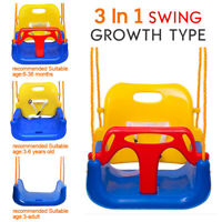 3-in-1 Baby Toddler Infant Swing Seat Safety Secure Hanging Outdoor/Indoor Play