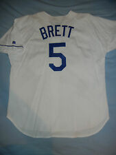 GEORGE BRETT Kansas City ROYALS White Russell Athletic Authentic BP Jersey 50