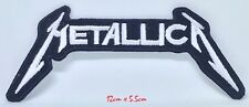 Metallica American Heavy Metal Band White Embroidered Iron on Sew on Patch #115W