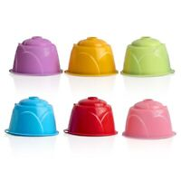 6 Color Refillable Reusable Coffee Capsules Cup Filter 51-100ml For Dolce Nestle
