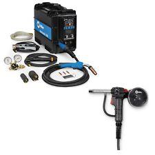 Miller Multimatic 200 Mig Tig Amp Stick Welder Pkg With Spool Gun 907518 Amp 300371