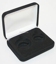 Black Felt COIN DISPLAY GIFT METAL BOX for 1-Quarter plus 1-Half Dollar U.S. JFK