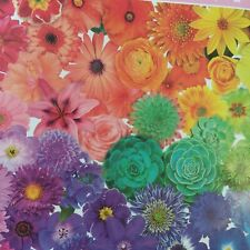 Jigsaw Puzzle New Sealed Colorful Flowers 1000 Pieces Adults Kids 8+ From USA