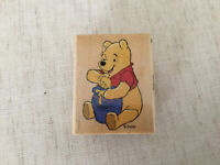 Winnie Pooh N' Hunny Pot Disney All Night Media Mounted Rubber Stamp 997-E04 NEW