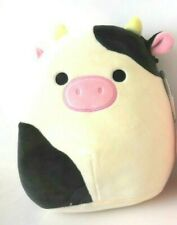 """Squishmallow Plush Doll, Cow Squishmallow, Connor the Cow Kellytoy 8"""" New"""