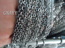 GNAYY 10meter Lot Wholesale stainless steel joint Oval Chain Jewelry Finding 3mm