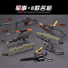 1/6 Scale Gatling Barrett AK47 MG42 Gun Assemble Model Puzzle Brick Gun Model