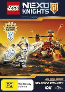 "Lego Nexo Knights : Season 2 : Vol 1 (DVD) Region 4 ""NEW AND SEALED"""