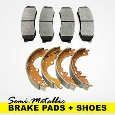 FRONT + REAR Brake Pads + Shoes 2 Sets Fits Nissan Sentra 2.0L, Versa 1.8L, Cube