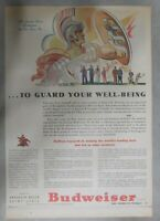 Budweiser Beer Ad: To Guard Your Well Being ! from 1940's