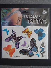 Butterflies Temporary Body Tattoo Stickers Butterfly Waterproof - CG-033